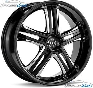 18x7 5 Enkei akp 5x114 3 5x4 5 42mm Black Chrome Rims Wheels inch 18""