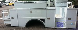"Utility Body Bed Box for Bucket Crane Service Truck 96"" Cab Axle 190"" Overall"