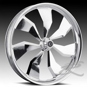 "Custom Wheels 21"" Wheel Chrome Rim Package for Harley"