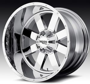22 inch 22x14 Moto Metal Chrome Wheels Rims 5x5 5 5x139 7 RAM 1500 Bronco