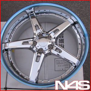 "22"" Maya Mrs Chrome 3 Piece Forged Bentley Continental GT GTC Wheels Rims"
