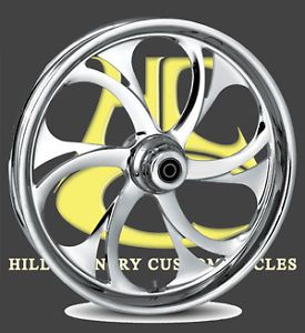 RC Components Recoil Chrome 21 FRONT Wheel pkg Harley Davidson Touring