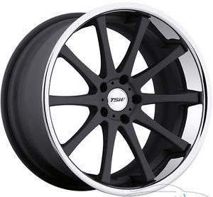 19x9 5 TSW Jerez 5x112 40mm Matte Black Chrome Rims Wheels inch 19""