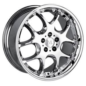 19 inch Detroit Leonardo Chrome Wheels Rims 5x112 Audi S8 TT TTS Q5 Crossfire
