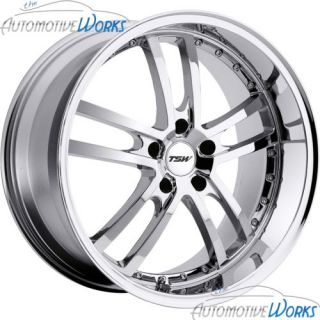 19x8 TSW Cadwell 5x120 35mm Chrome Rims Wheels inch 19""