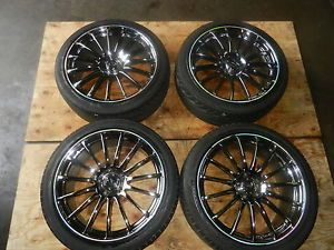 "JDM Advan 151C Connoisseur 19"" inch 5 Lug 5x114 Rims 19x8 5 Wheels Chrome 38"