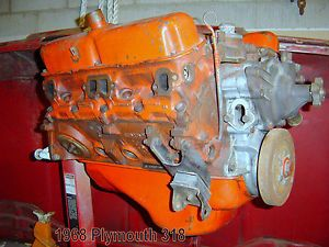 1968 69 Plymouth 318 Complete Engine Dodge Chrysler Forged Steel Crank 5 2 L