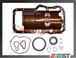 Dodge Jeep 3 7L V6 Engine Convension Lower Gasket Set Power Tech Oil Pan Gasket
