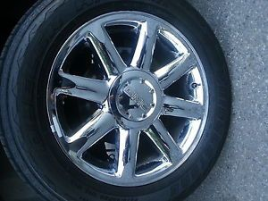 2007 12 Avalanche Tahoe Denali 20 Chrome Wheels Tires Factory Rims OEM GM