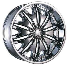 "18"" Velocity 820 Chrome New Wheels Rims Tires 225 40 18 Nissan Toyota Honda"