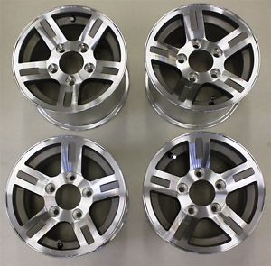 XUV Gator Sport Wheels John Deere Accessory Upgrade Rims Silver Set Chrome Caps