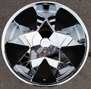 "Greed Virtue 936 24"" Chrome Rims Wheels Ford F 150 F150 5 Lug 24 x 9 5 5H 18"