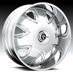 "20"" Dub Bandito Wheel Set 20x10 Chrome Rims rwd 5 6 Lug Wheels 20inch"