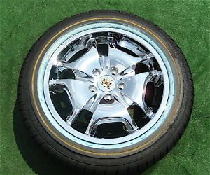 4 Brand New Genuine Vogue Fluxx 17 inch Chrome Wheels Tyres Cadillac Lincoln $5K