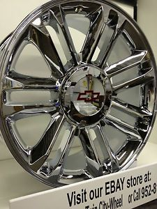 20 inch Chrome Cadillac Escalade Platinum OE Wheels Rims Chevrolet Silverado LTZ