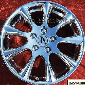 "Set of 4 New Chrome 17"" Acura TSX Factory Wheels Rims RSX TL CL s MDX 71750"