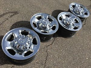 "4 17"" Dodge RAM 2500 Laramie Cummins Factory Stock Chrome Wheels Rims 8x165"