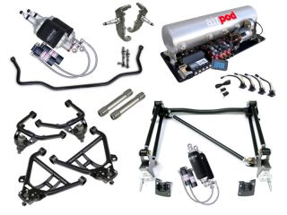 55 57 Chevy Tri 5 Level 3 Ridetech Air Ride Suspension System Kit
