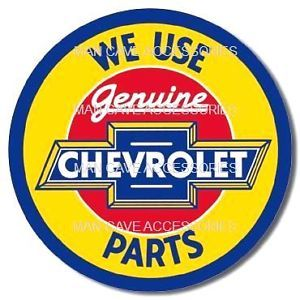 Genuine Chevrolet Parts Vinyl Decal Sticker Chevy