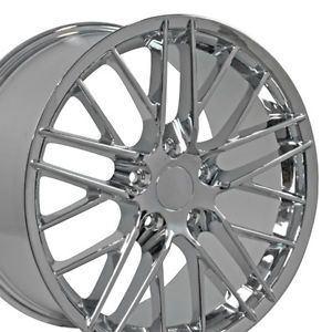 "19"" 18"" Corvette C6 ZR1 Chrome Wheels Set of 4 Rims Fit Chevrolet"
