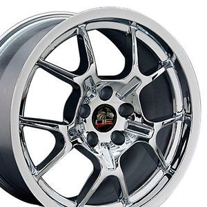 18 Chrome GT4 GT40 Wheels Rims Fit 2005 Mustang®