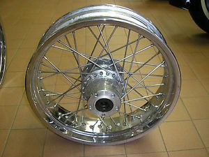 "Chrome Spoked Rear Wheel 18"" for Victory Vegas"