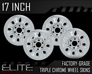 2004 2011 GMC Sierra 17 inch Chrome Wheel Skin Covers