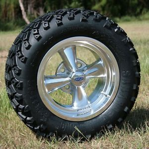 12x7 Cragar Golf Cart Wheels and All Terrain Sahara Classic Tires