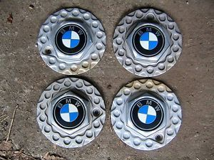 BMW E30 15 inch 4 x 100 BBs Basketweave Center Caps for BBs Rims Wheels