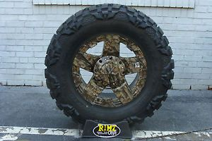"20"" XD Rockstar Wheels G1 Camo 37x13 50R20 Nitto Mud Grappler MT 37"" Tires"