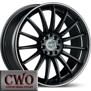 17 Black Ruff R950 Wheels Rims 4x100 4x114 3 4 Lug Civic Integra Accord