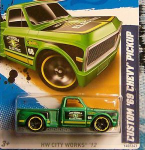 1969 Chevy Custom Pickup Hot Wheels Rat Rod Hot Rod