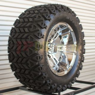 "Lifted Golf Cart Wheel 4 12"" 12x7 All Terrain Moto x Trail Tire Value"