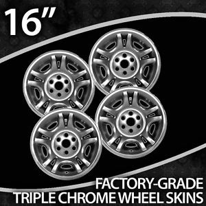 "2001 2004 Dodge Dakota 16"" Chrome Wheel Skins"