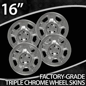 02 2007 Jeep Liberty 16 inch Chrome Wheel Skin Covers