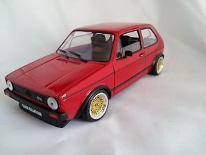 1 18 Scale VW Volkswagen Golf MK1 GTI Red with BBs Wheels Limited