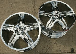"Dub Illusion S160 20"" Chrome Rims Wheels G35 G37 Staggered 20 x 8 5 9 5 5H 35"