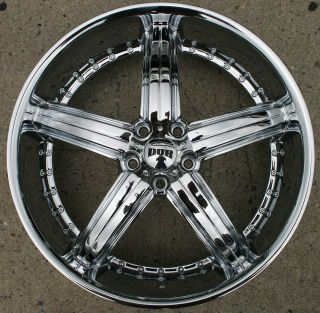 Dub Bomber S165 22 x 8 5 Chrome Rims Wheels BMW 645 650 6 Series 11 Up 5H 35