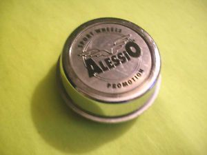 "Alessio Sport Wheels Little Chrome Rim ""Tall"" Custom Wheel Center Cap Hub Qty 1"