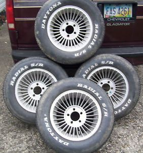 American Racing Turbo Aluminum Wheels and Tires 15 in Set
