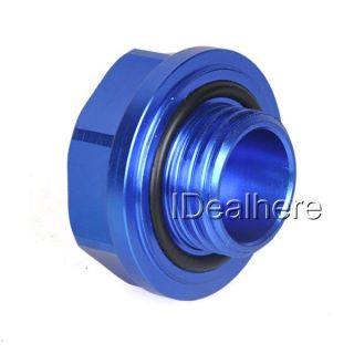 Blue Mugen Power Oil Fuel Filler Fill Tank Cap Cover Plug for Honda Auto