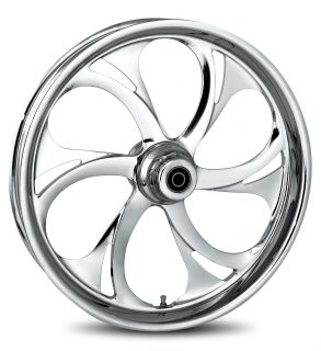 "Recoil Chrome 21"" Package Set Wheels Rims Tires Disks Harley Bagger 09 14"