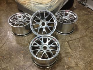 "Original BBs RE1240 RE1319 Wheels Rims 18"" Center Lock Porsche Cup Car"