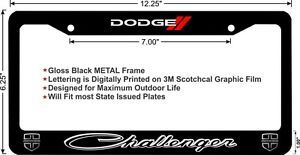 Dodge Challenger New Logo Design Custom Metal License Plate Frame