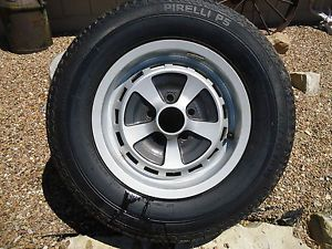 1986 Jaguar XJ6 Kent Alloy Wheel and Pirelli P5 Tire 215 70 VR15
