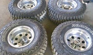 4 33x12 50x15 Hankook Dynapro M T Tires 15x10 Wheels Rims 5x5 5 Dodge Ford
