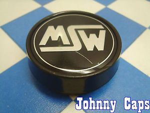 MSW Wheels Black Center Caps M126A Custom Wheel Black Center Cap 1