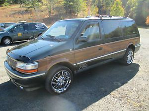 1992 Chrysler Town Country Custom All Wheel Drive Muti Fuel Surveilance Van