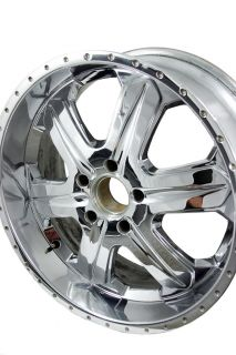"Chrome 22x9 5"" American Racing ""Fuel"" Wheel 18 5x5 5 Dodge Ford Fitment"