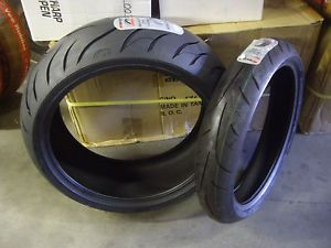 A Set of Avon Tires 240 40R 18 120 60R 17 Hayabusa GXSR Big Tire Kit